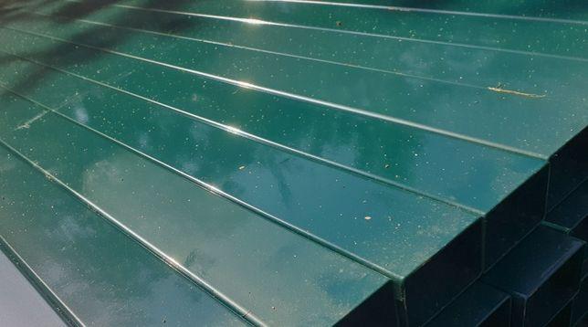 Słupki 60x40 grafit i zielony 2,0 m slupek do paneli ogrodzeniowych
