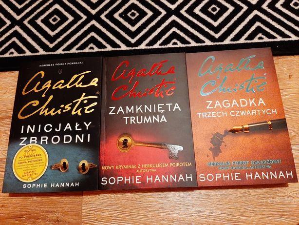 Zestaw trzech książek Sophie Hannah z serii Agatha Christie