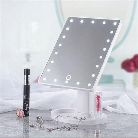 Настольное зеркало для макияжа Mirror с LED подсветкой. Белое и розов