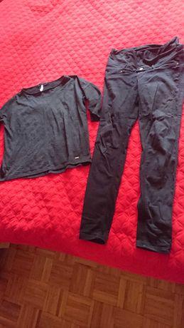 Spodnie i bluzka ciążowe