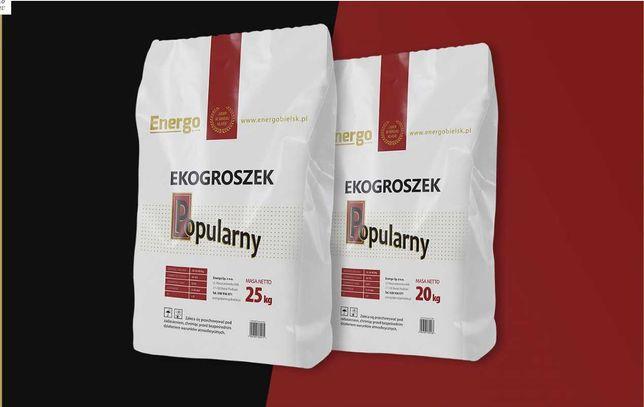 Ekogroszek Popularny Worki 25 kg Wydajny pakowany