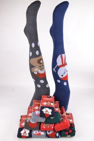 Яркие и красочные махровые рождественские колготки от фирми фенна на р