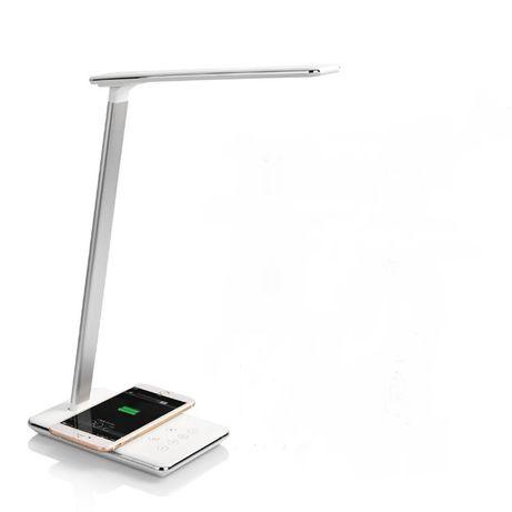 Lampka na biurko LED z ładowarką Bezprzewodową QI Lampa biurkowa