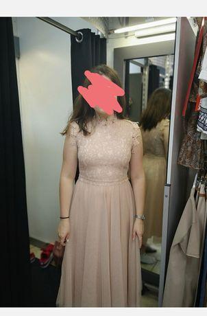 Sukienka tiulowa z koronką