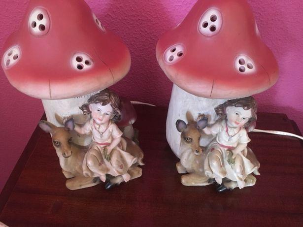 Candeeiros cogumelo