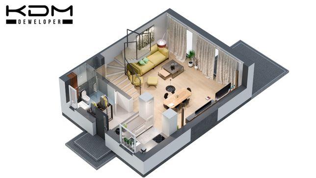 KDM DEWELOPER Nowy Pleszew mieszkanie 87,01m2 + 15m2 poddasze do adap