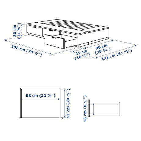 łóżko pojedyńcze Nordli Ikea