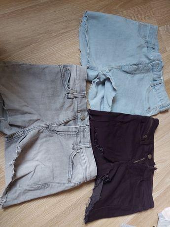 Krótkie spodenki jeansowe 3szt