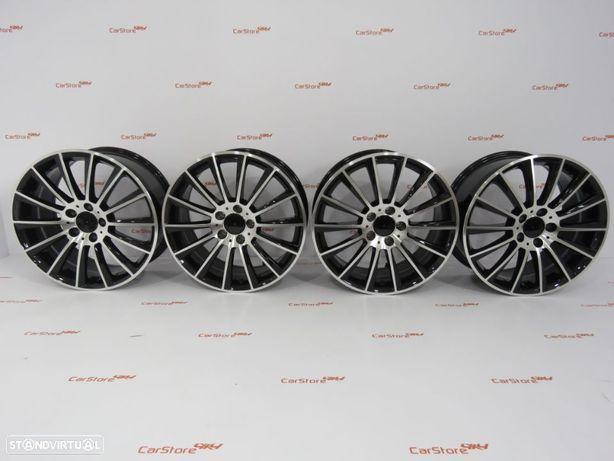 "Jantes Look Mercedes Turbine 18 "" x 8 et45 5x112 Pretas e polido"