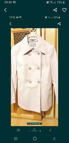 Płaszczyk trencz płaszcz Mark Spencer Per Una 12 L 40 pudrowy róż