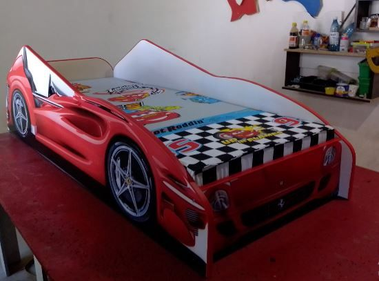 Новая. Детская кровать машина Феррари.