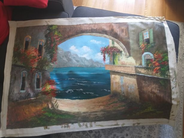 tela de pintura a óleo