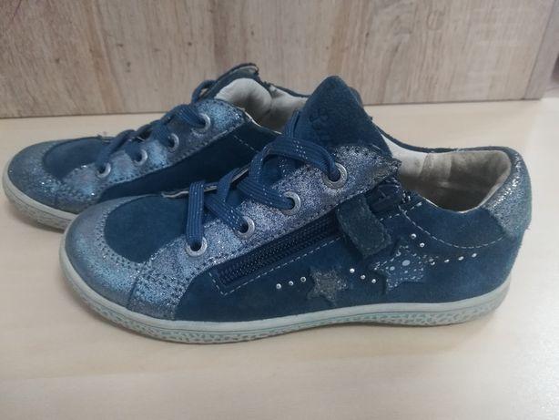 Wiosenne buty, półbuty skórzane Lurchi dla dziewczynki 6-7 lat,rozm.30