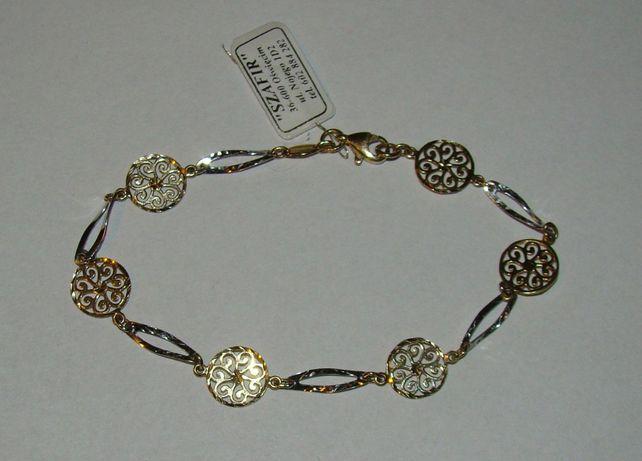 Złota bransoletka 14 karat próby 585-Firma Szafir-Wzór 94
