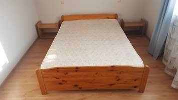 Łózko sypialniane drewniane sosnowe