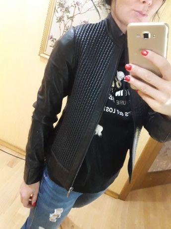 ВСЕ РАЗМЕРИ куртка косуха кожаная кожа натуральная Ares Zara Mango