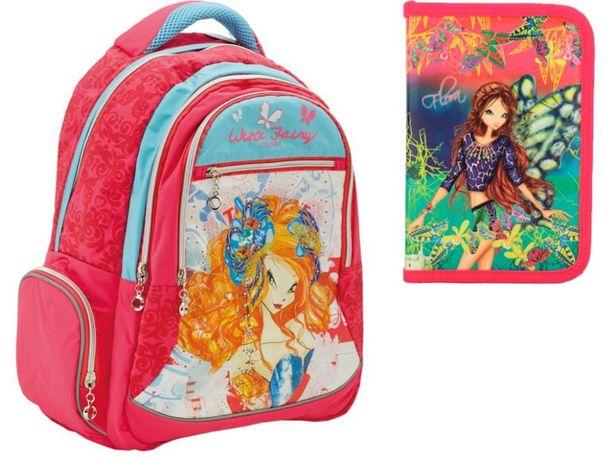 Комплект Winx: рюкзак YES и пенал Kite, девочки новый 3, 4, 5, 6 клас
