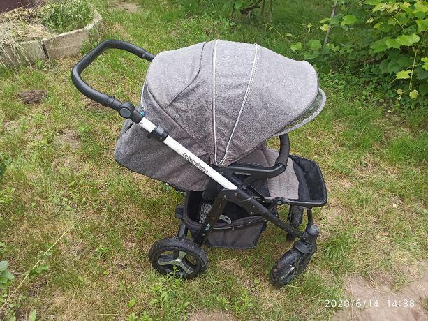 Wózek głęboko-spacerowy 2w1 Baby Design Husky winterpack gondola + akc