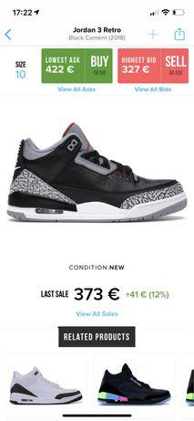 Jordan retro 3 black cement (2018)
