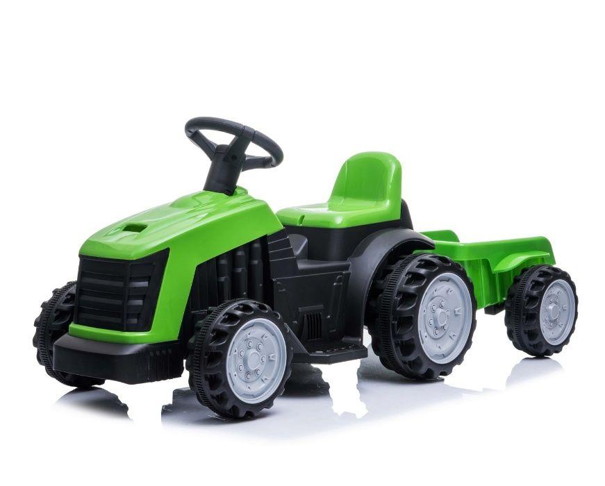 TRAKTOR DLA DZIECI traktorek na AKUMULATOR + Przyczepka, 2 kolory