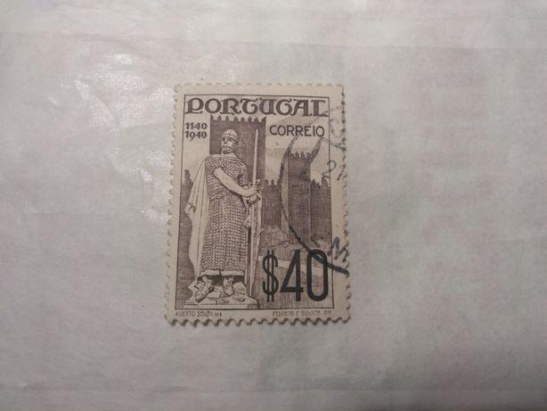 Selos de Portugal - 1940 - Dom Afonso Henriques $40