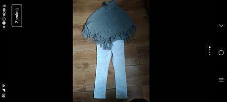 Poncho plus spodnie biale 110