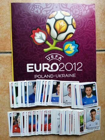 Conjunto de 75 cromos Euro 2012