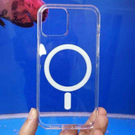 Чехол для iPhone 12/12 Pro прозрачный Magnet MagSafe