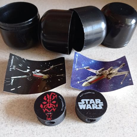 Org. Star Wars Lucasfilm - naklejki i gumki zakładane na ołówek kredkę