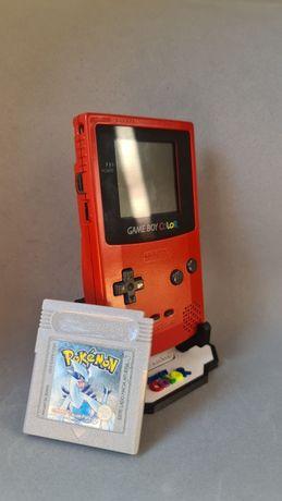 Game Boy Colour Vermelha + Jogo Pokémon Silver