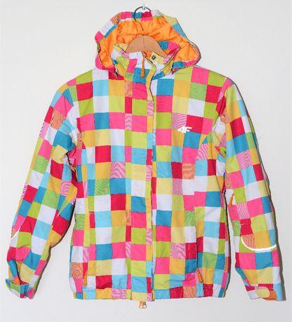 Piękna, kolorowa kurtka narciarska dziewczęca 4F rozm. 146