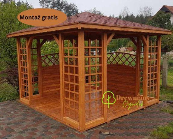 Altana drewniana, Altanka ogrodowa z montażem