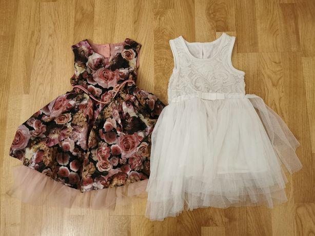Zestaw sukienek wizytowych r.92, sukienki tiulowe, balowe