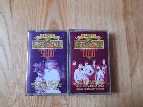 Dwie kasety Złote Przeboje lata 50-60 i 60-70