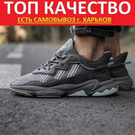 """Кроссовки Adidas Ozweego """"Dark/Gray"""" Мужские/Женские"""
