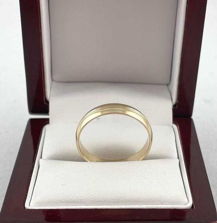 Złota obrączka PR. 585 (14k),rozmiar 27