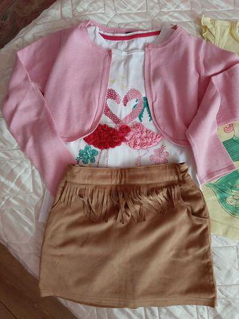 Zestaw ubrań dla dziewczynki lat 8