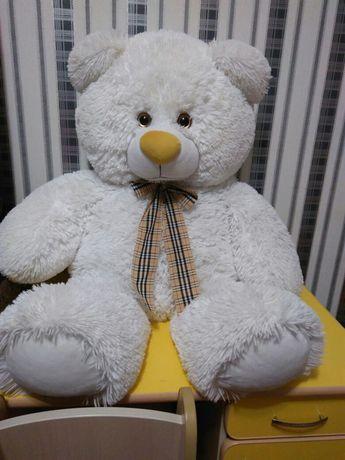 Мягкий медведь мишка высокий 100см большой белый