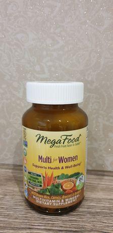 MEGA FOOD комплекс вітамінів і мікроелементів для жінок, 60 таблеток
