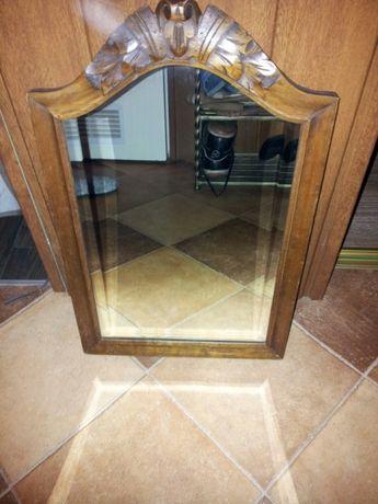 Stare lustro epoka Biedermeier - drewno orzechowe szkło fazowane