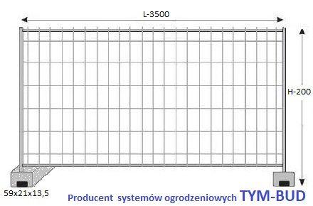 Ogrodzenie Tymczasowe Budowlane KOMPLET panel/stopa/obejma PRODUCENT