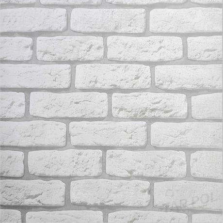 Tapeta ścienna zmywalna kamień mur szara cegła 3D