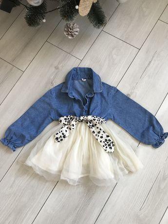 Дитяча джинсова сукня на зріст 2 роки