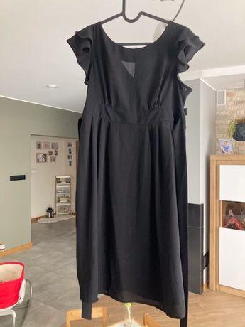 Maternity sukienka ciażowa czarna wiązana 38 topshop