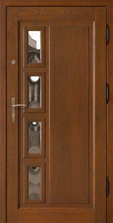Drzwi zewnętrzne gr. 7,5 cm dębowe ocieplane. Producent