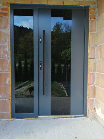 Drzwi wejściowe zewnętrzne drewniane dębowe dostawa gratis