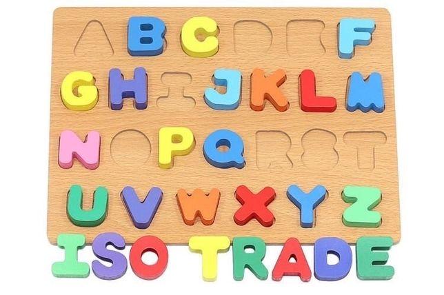 Drewniany zestaw do nauki alfabetu