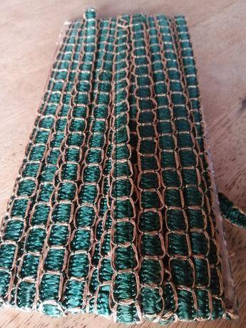 Fita galão de seda verde e dourado novo artesanato e dyi