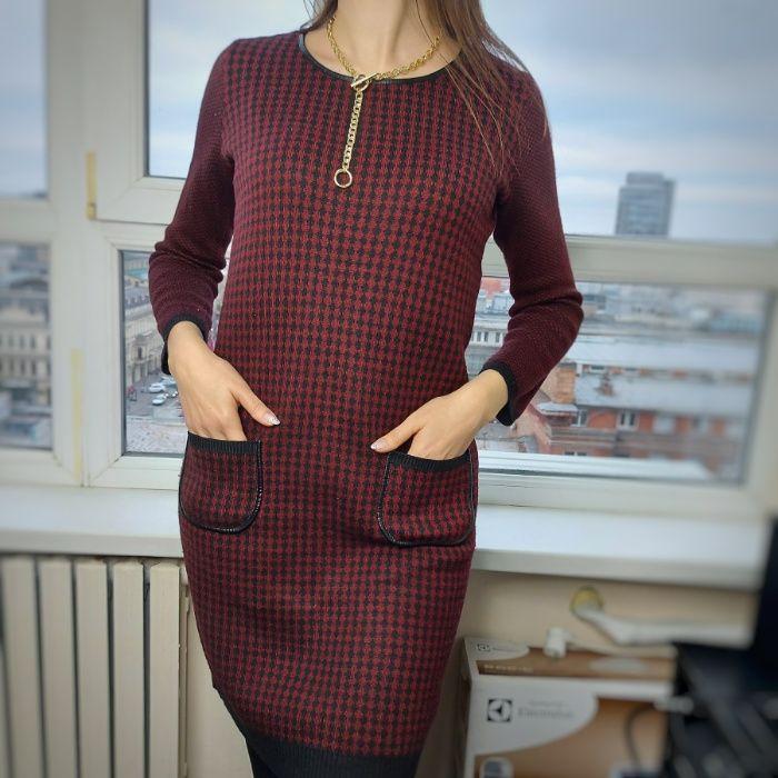 Классное теплое платье 300грн S/M Днепр - изображение 1