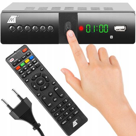 Dekoder Tuner TV Naziemnej DVB-T2 HEVC H.265 USB